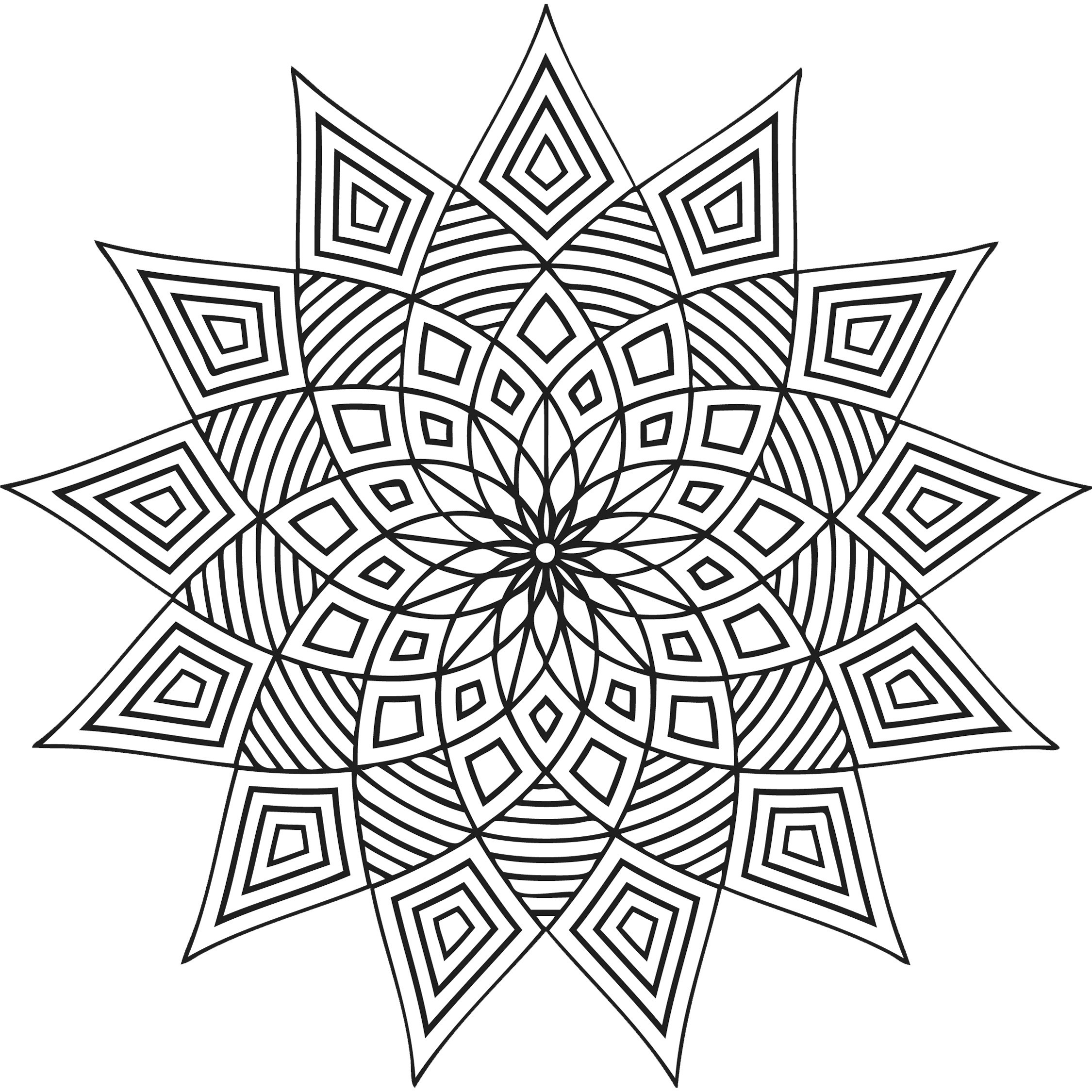 Coloring Patterns For Kids  Free Printable Geometric Coloring Pages For Kids