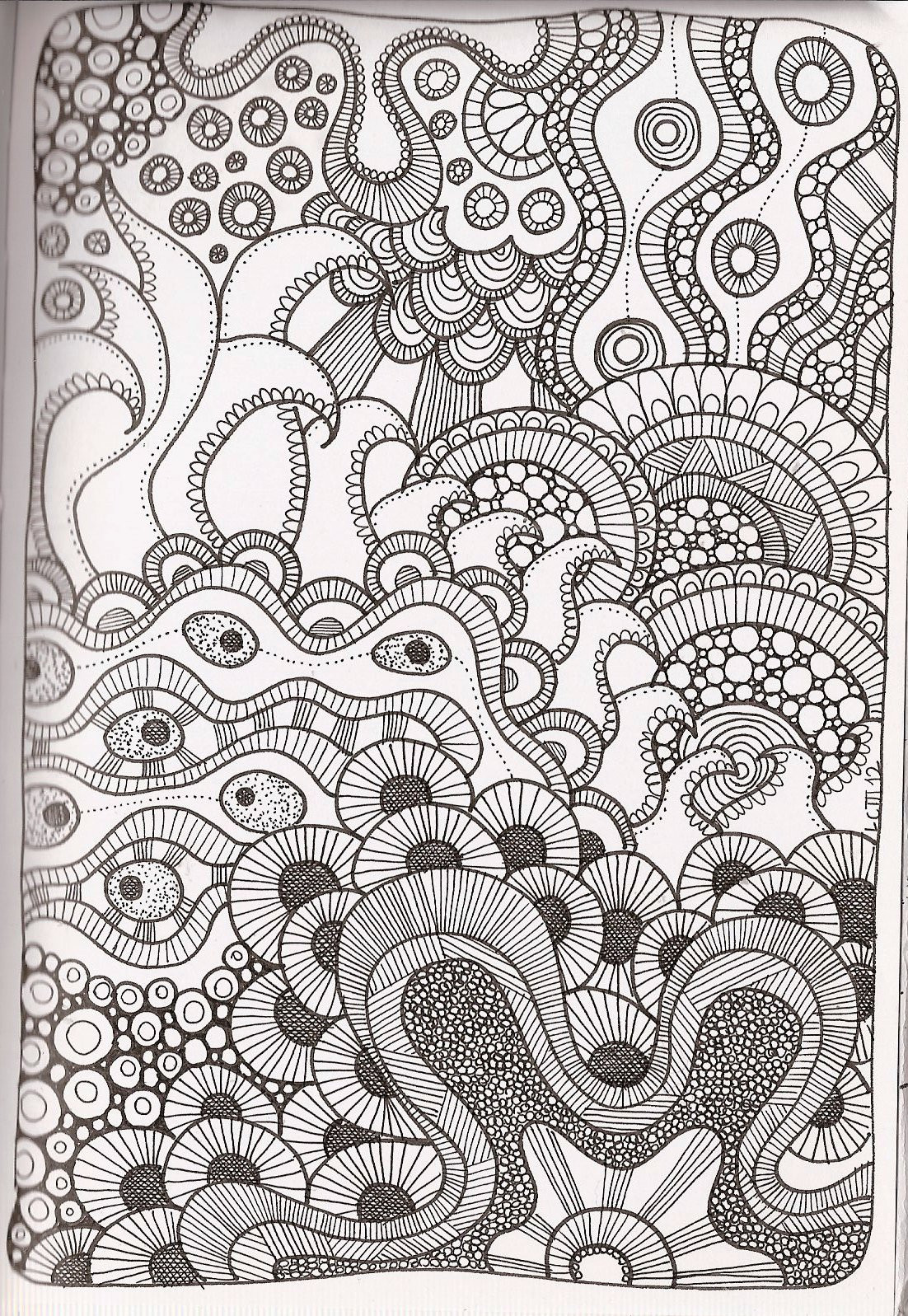 Coloring Patterns For Kids  Free Printable Zentangle Coloring Pages for Adults