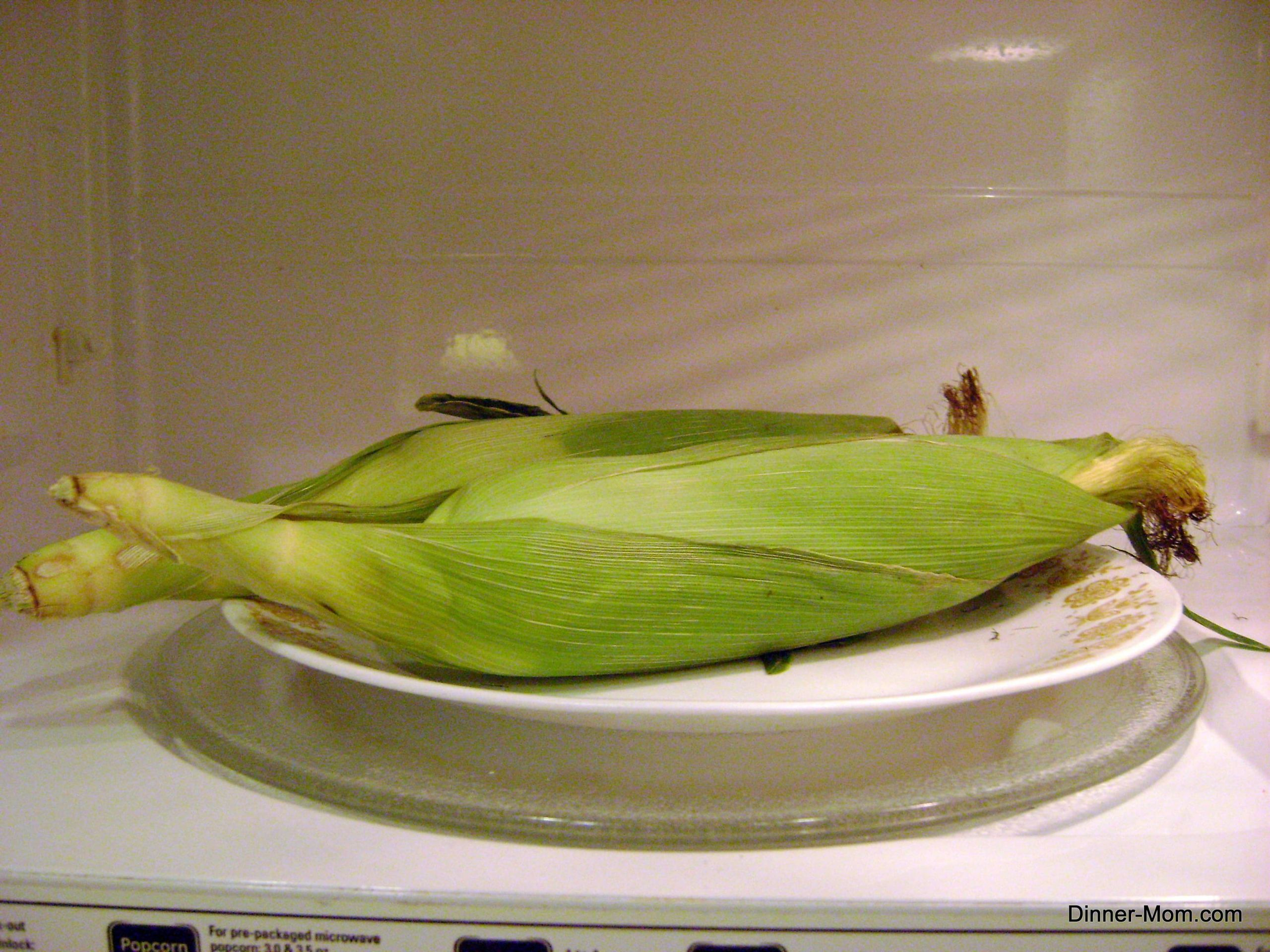 Corn In The Microwave  Microwave Corn on the Cob in Husk and Slip Away Silk