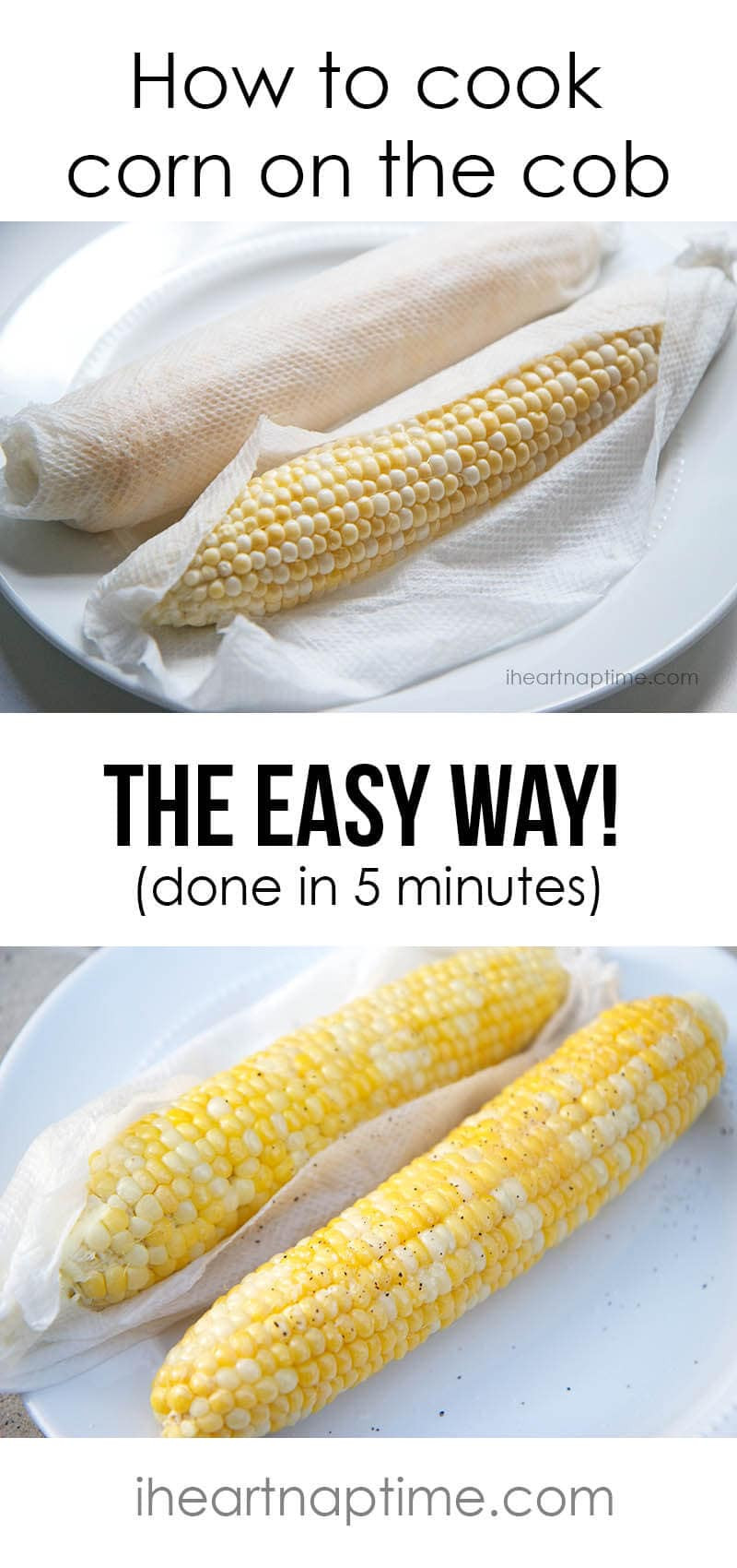 Corn In The Microwave  microwave corn on the cob wet paper towel