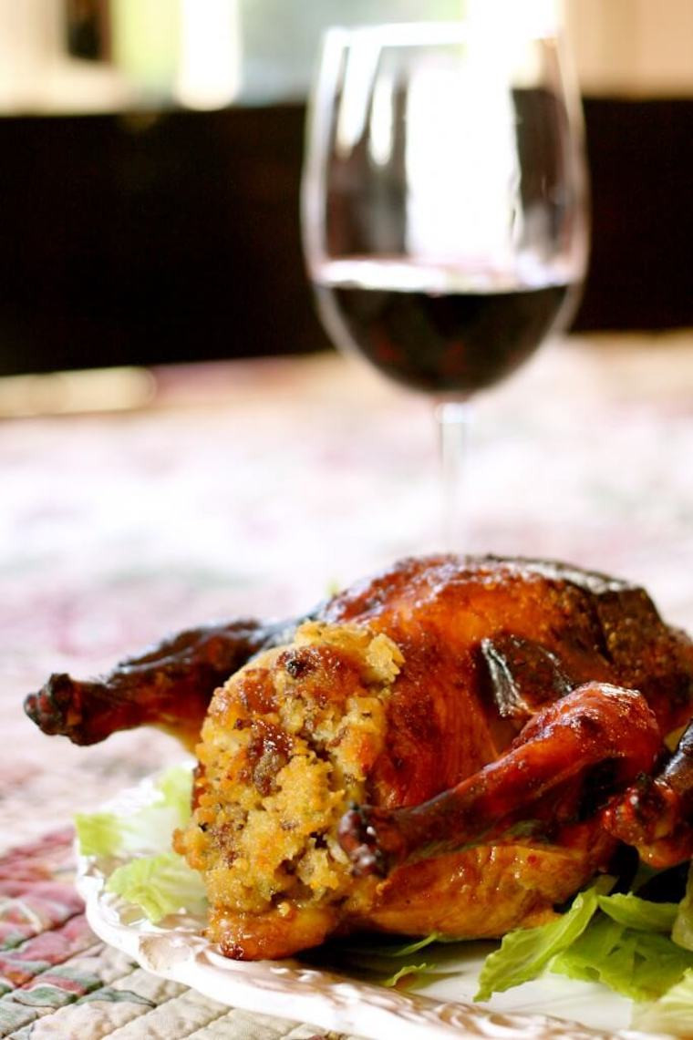 Cornish Game Hens Recipe  Sweet and Spicy Cornish Game Hens With Cornbread Stuffing