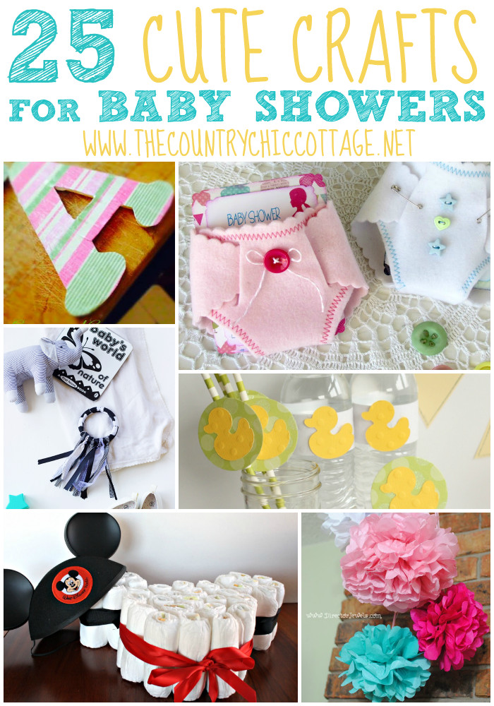Craft Ideas For Baby Shower Decorations  25 Baby Shower Crafts With images