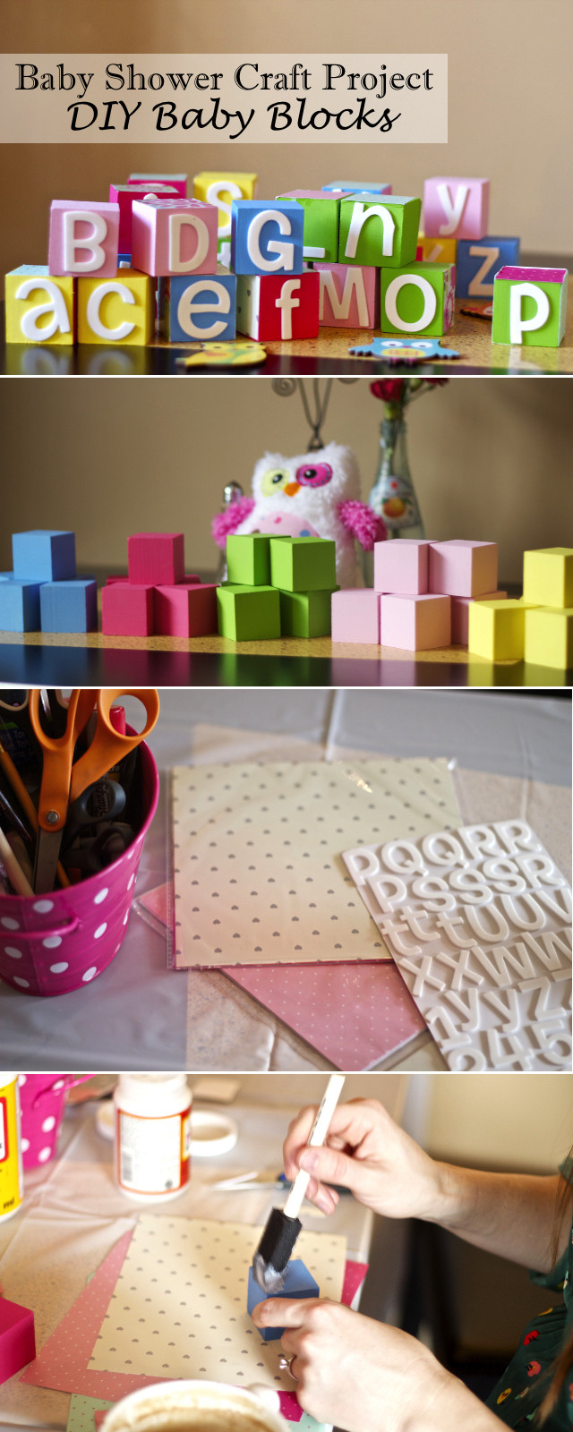 Craft Ideas For Baby Shower Decorations  Chasing Davies Baby Shower Craft Idea DIY Baby Blocks