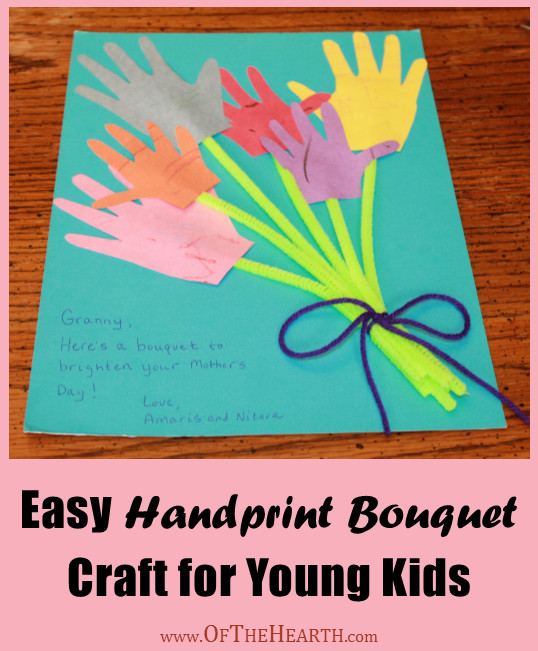 Crafts For Young Toddlers  Easy Handprint Bouquet Craft for Young Kids