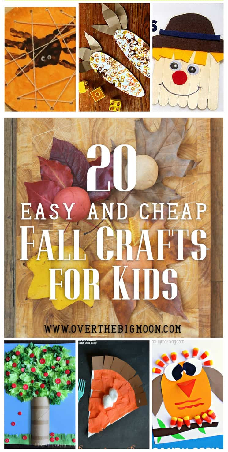 Crafts For Young Toddlers  20 Easy and Cheap Fall Kids Crafts