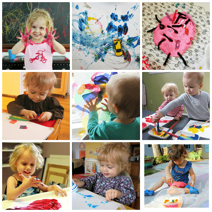 Crafts For Young Toddlers  Art Activities for Toddlers 7 Simple & Fun Ideas for