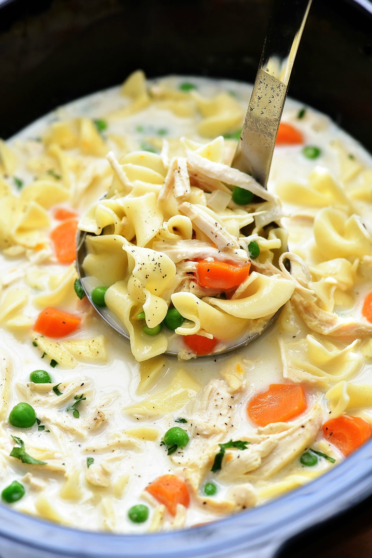 Cream Of Chicken Soup Slow Cooker Recipe  Slow Cooker Creamy Chicken Noodle Soup Life In The Lofthouse
