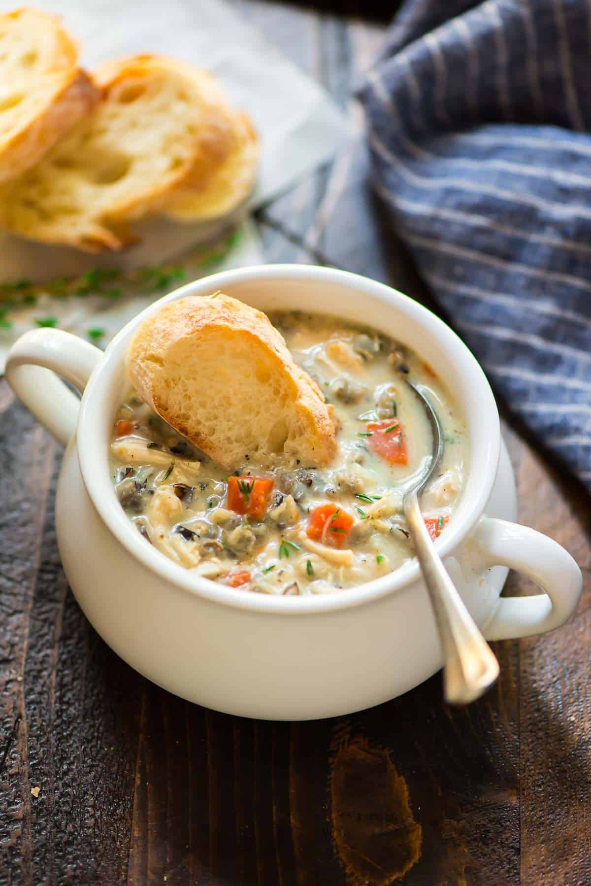 Cream Of Chicken Soup Slow Cooker Recipe  Creamy Chicken and Wild Rice Soup