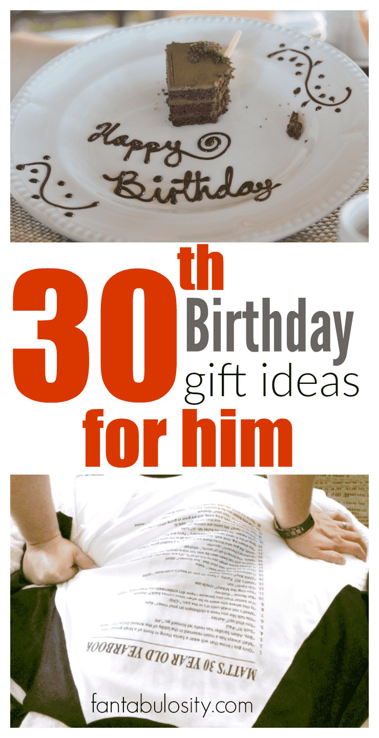 Creative 30th Birthday Gift Ideas For Him  30th Birthday Gift Ideas for Him Fantabulosity