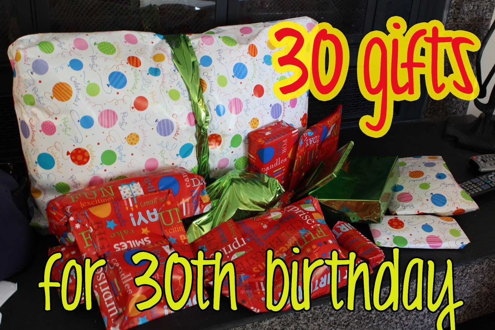 Creative 30th Birthday Gift Ideas For Him  love elizabethany t idea 30 ts for 30th birthday
