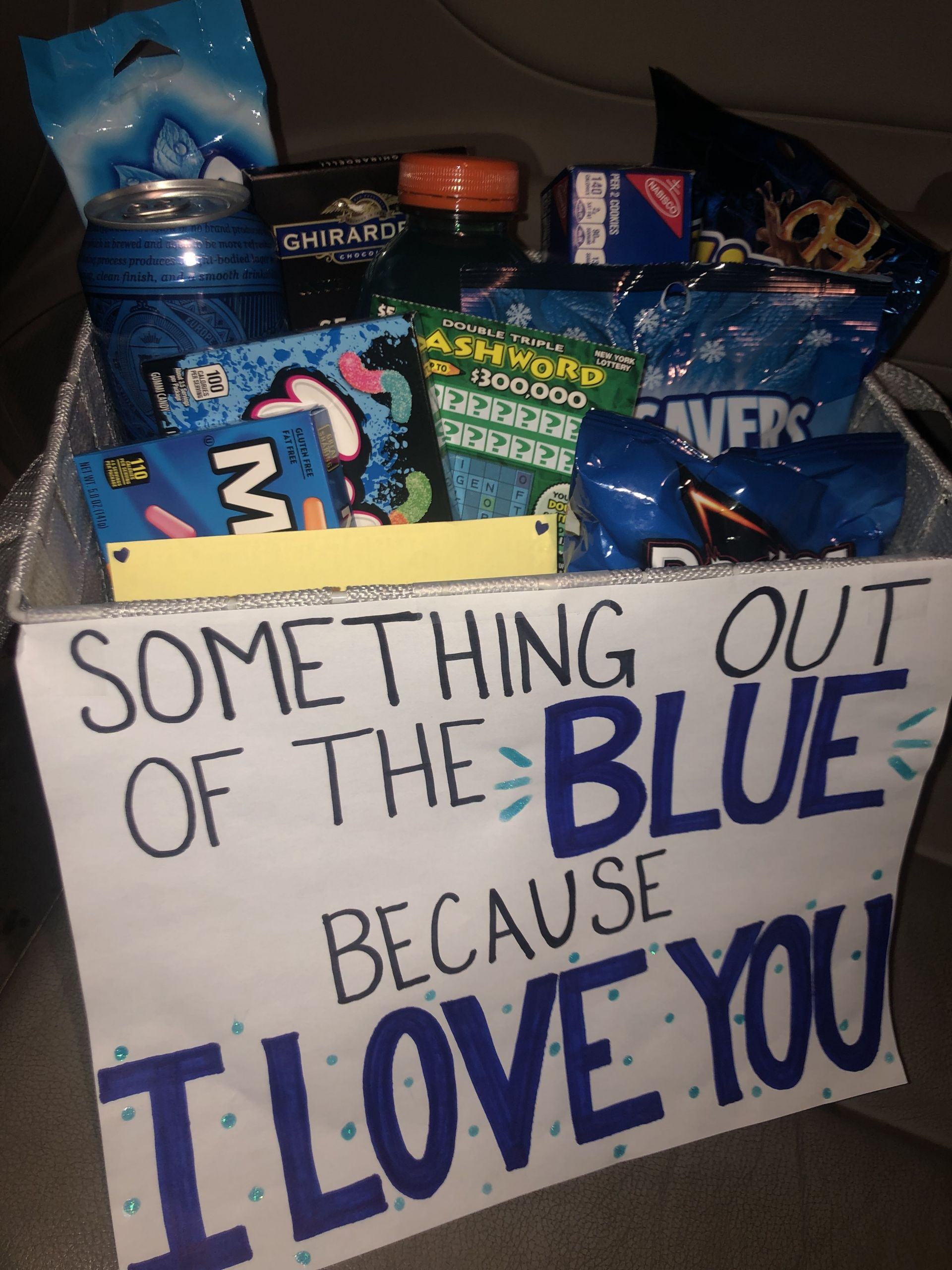 """Cute Gift Ideas For Boyfriend Just Because  DIY Just Because Gift Baskets For Boyfriend """"Something Out"""