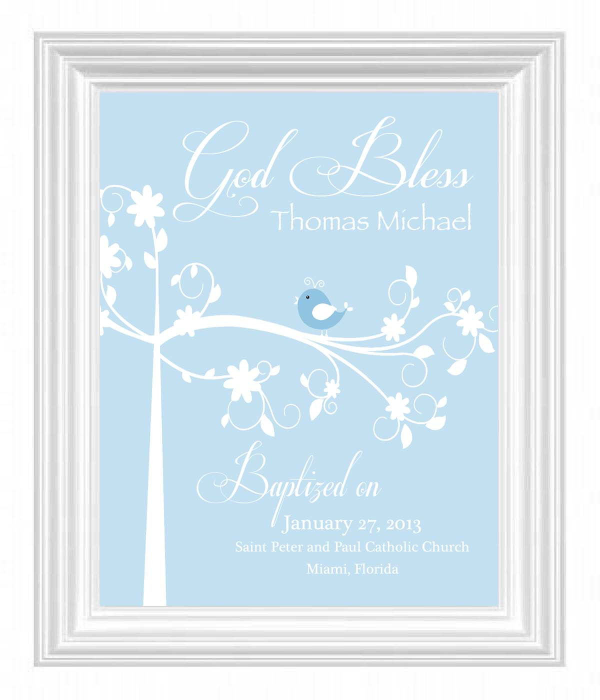 Dedication Gifts For Baby Boy  Christening Gift Baptism Gift Baby Boy Personalized Print