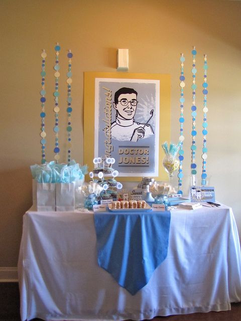 Dental School Graduation Party Ideas  Love all the vintage graphics at this party Dentist