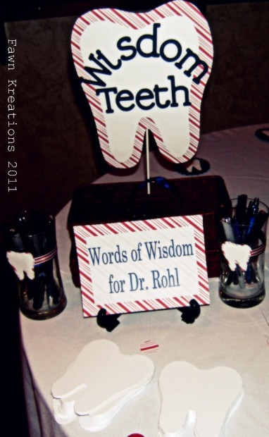 Dental School Graduation Party Ideas  Fawn Kreations Surprise Dental School Graduation Party