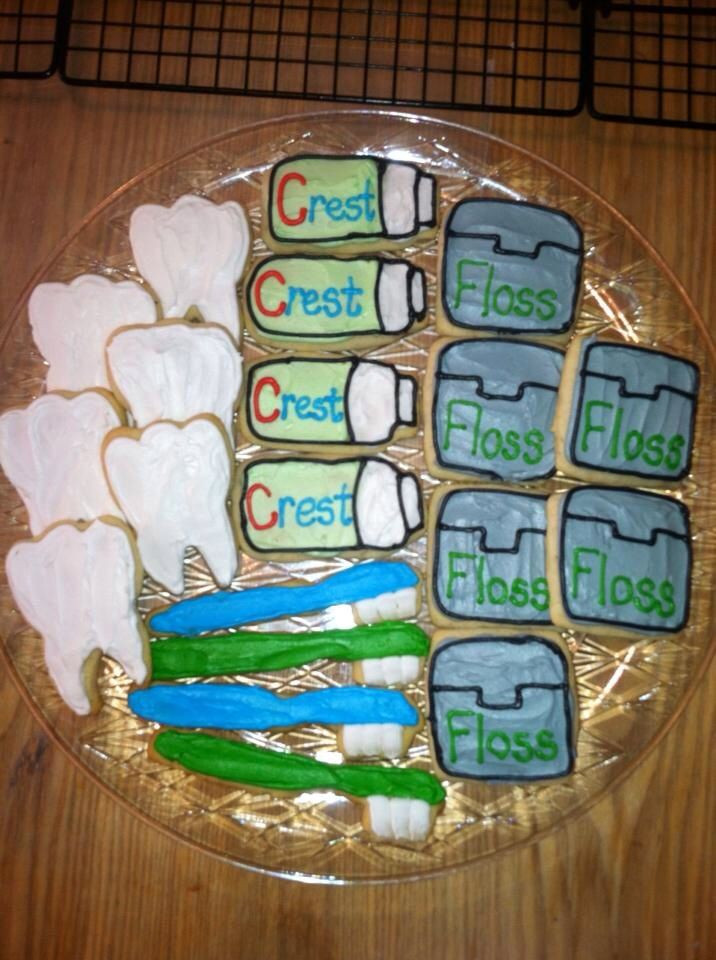 Dental School Graduation Party Ideas  Dental cookies for my brother s graduation party