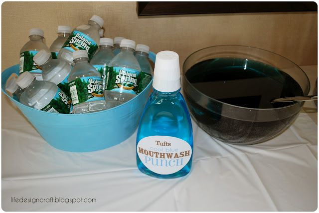 "Dental School Graduation Party Ideas  ""Mouthwash Punch"" for Dental School Graduation Party"