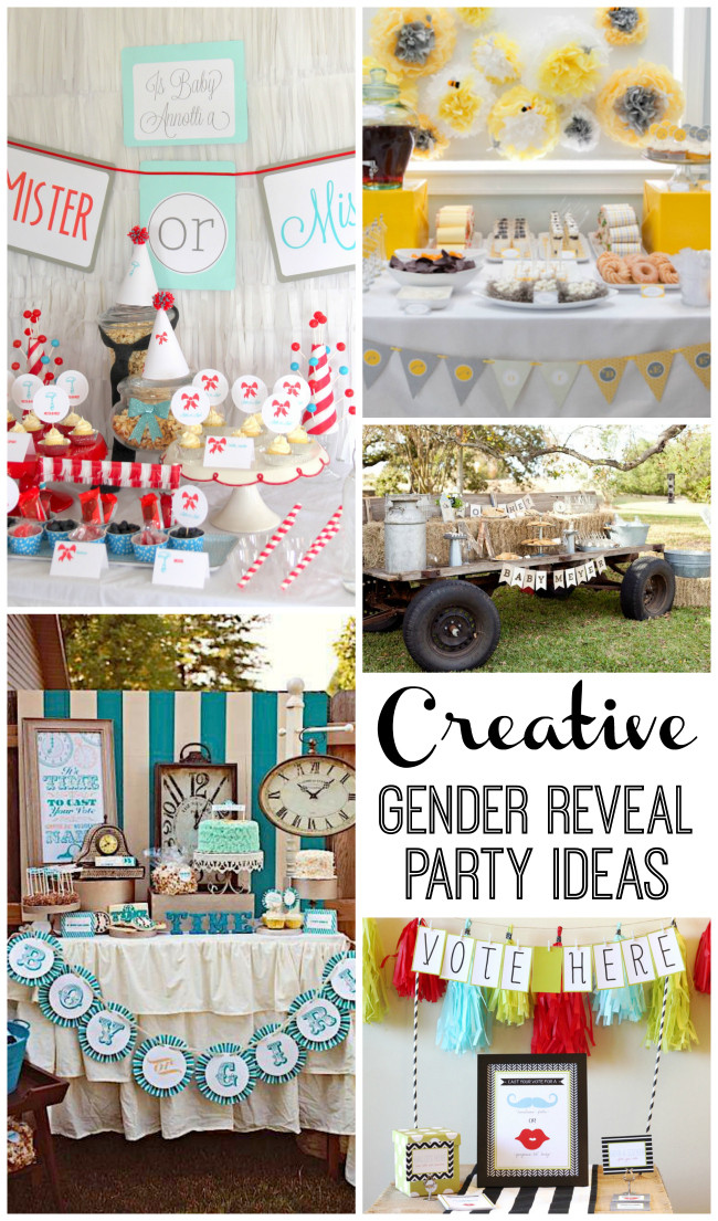 Different Ideas For A Gender Reveal Party  Super Creative Gender Reveal Parties Design Dazzle