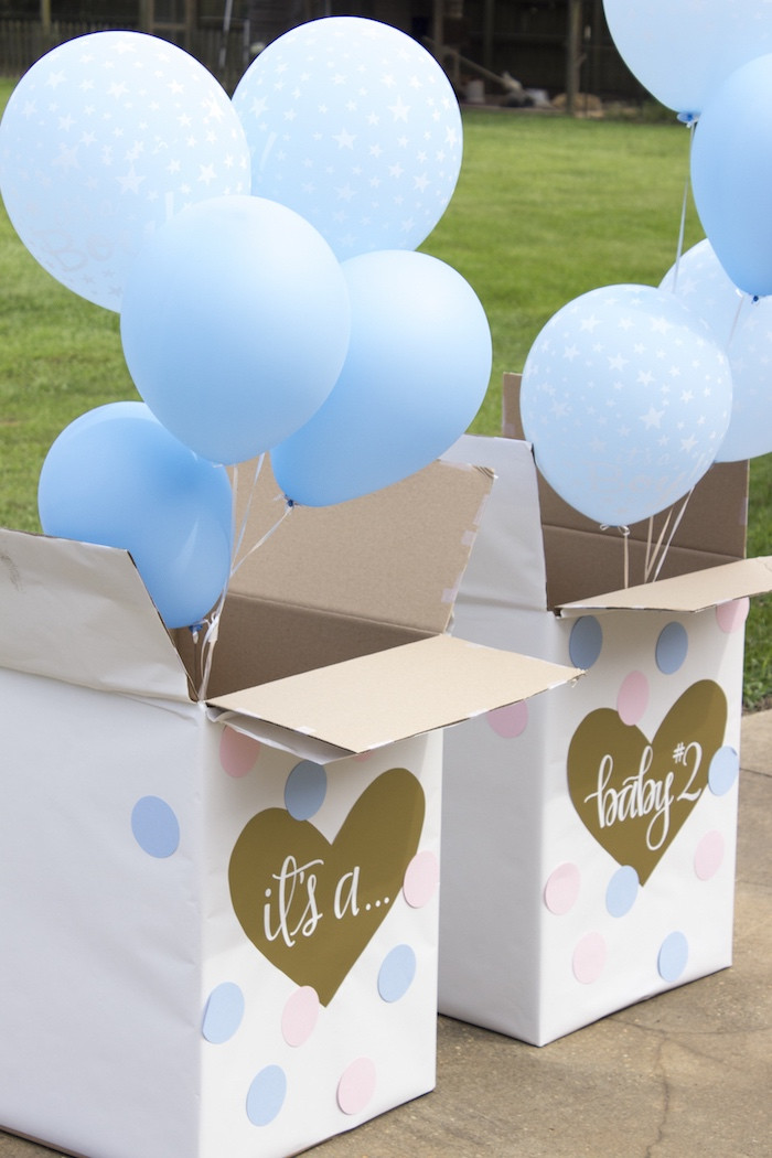 Different Ideas For A Gender Reveal Party  Kara s Party Ideas Ice Cream Social Gender Reveal Party