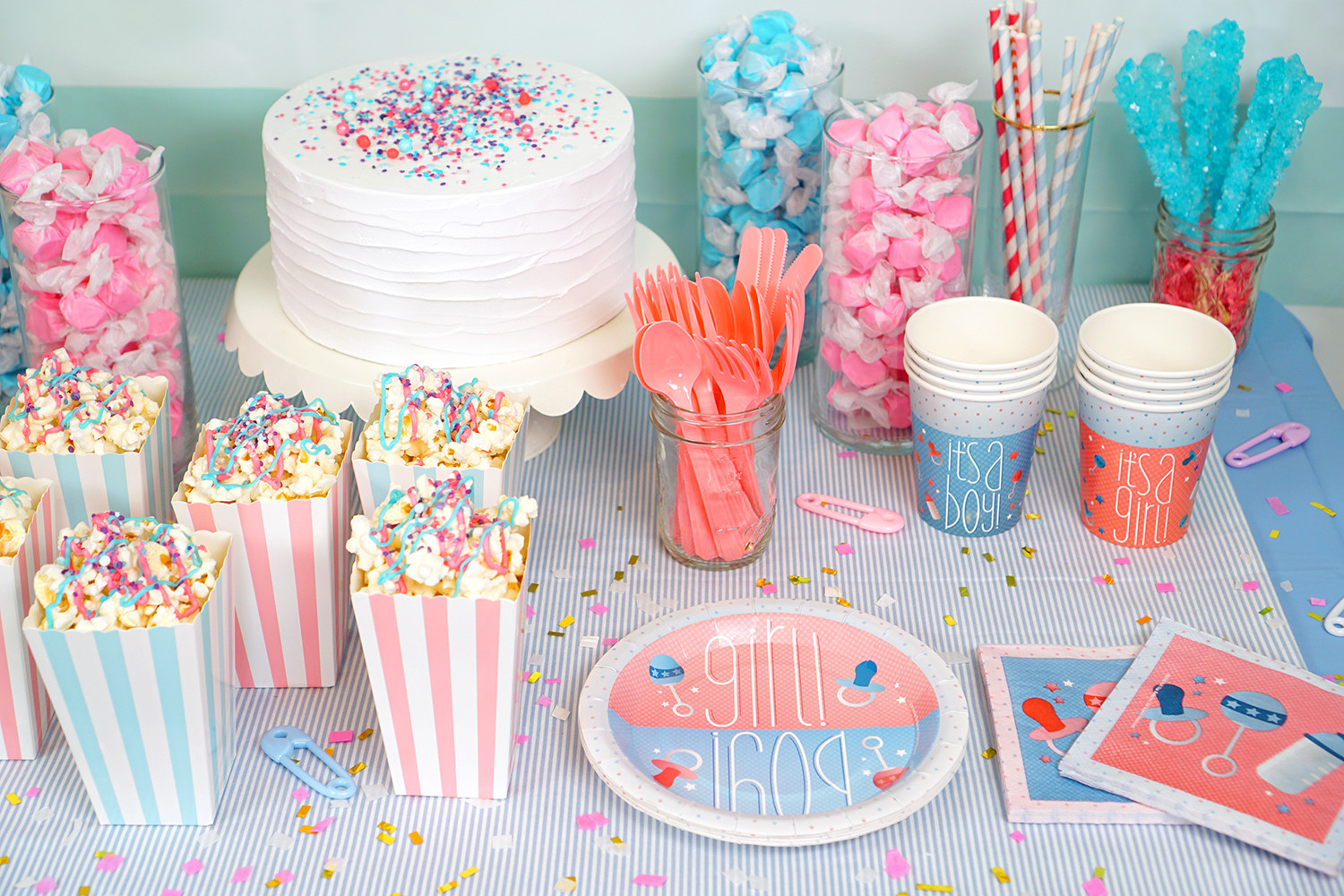 Different Ideas For A Gender Reveal Party  Gender Reveal Party Ideas Happiness is Homemade
