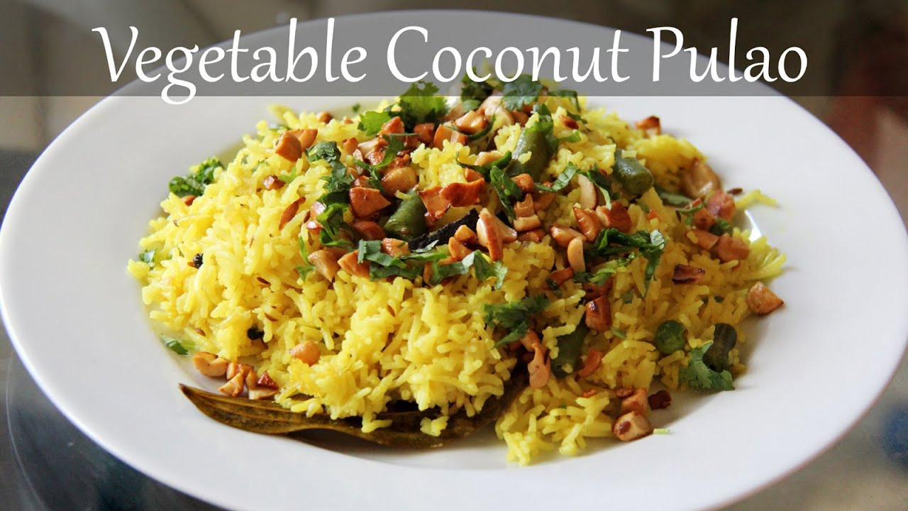 Dinner Recipes Indian Veg  Ve arian Coconut Rice Recipe