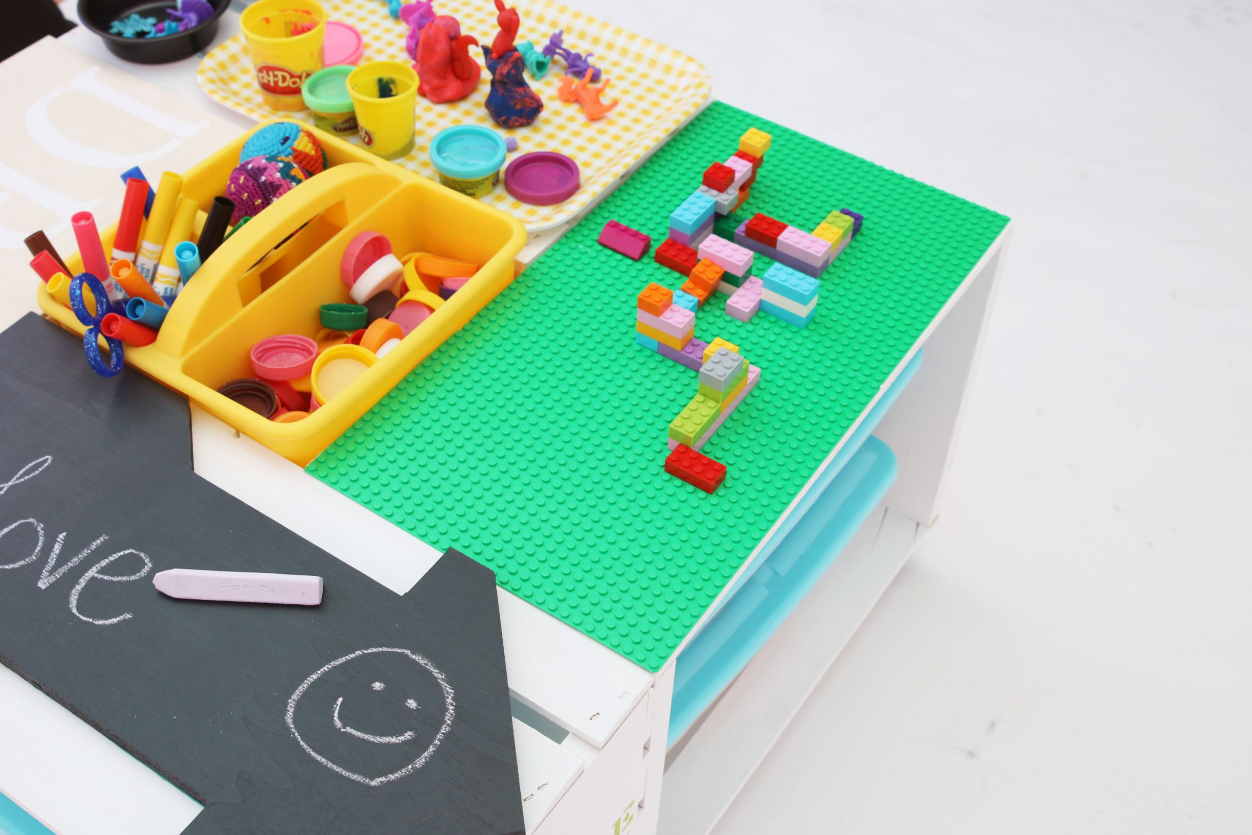 DIY Activity Table For Toddlers  DIY Kids Activity Center Lego Table made with 4 Wood