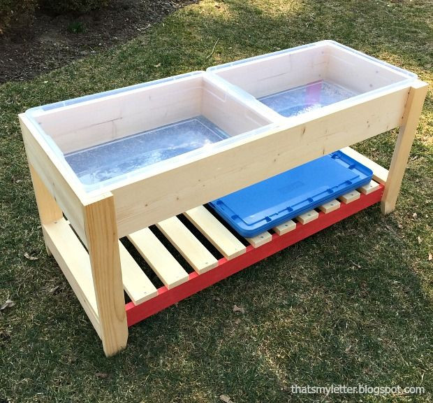 DIY Activity Table For Toddlers  DIY Sand and Water play table