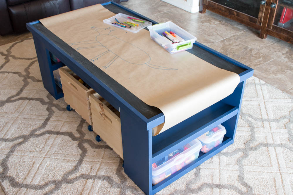 DIY Activity Table For Toddlers  Free Plans Build a DIY 4 in 1 Activity Table Addicted