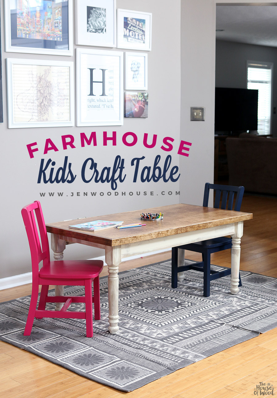 DIY Activity Table For Toddlers  Kids Farmhouse Table