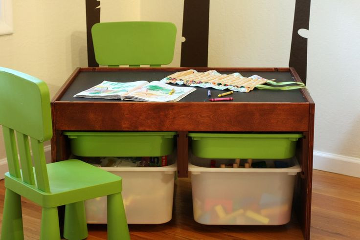 DIY Activity Table For Toddlers  DIY convertible kids activity table Magnetic chalkboard