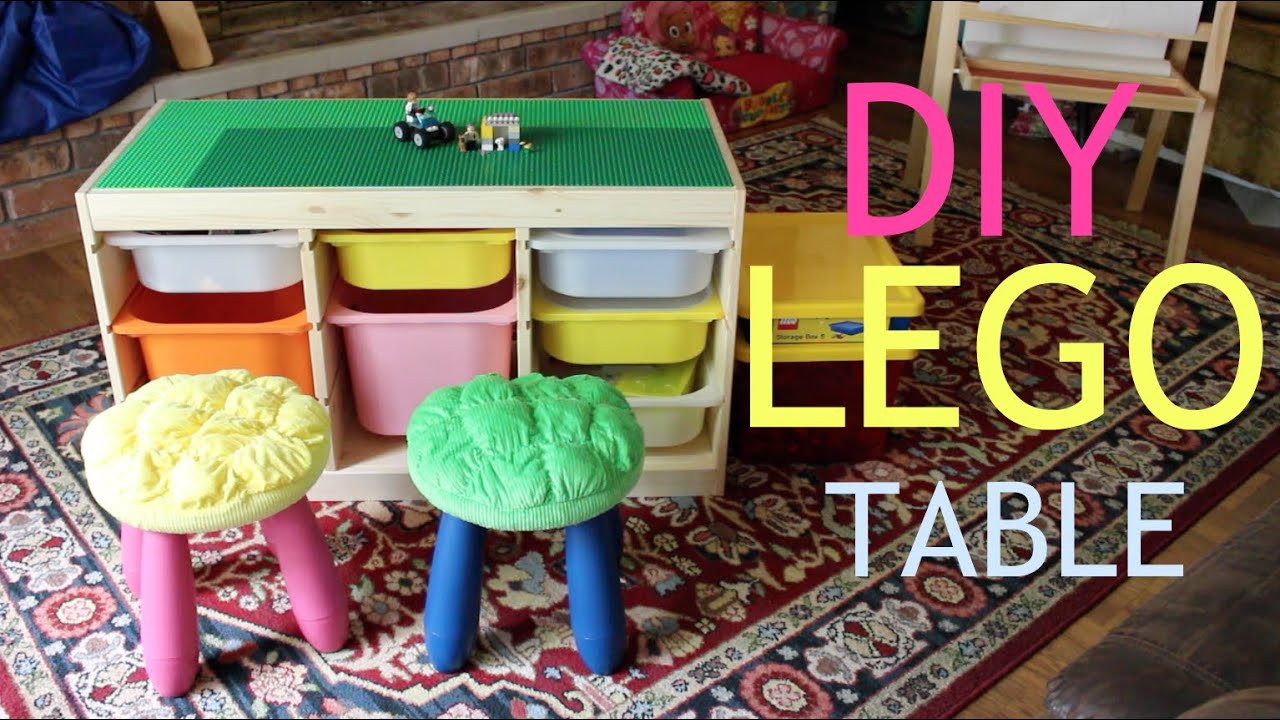 DIY Activity Table For Toddlers  DIY Lego Activity Table & Organization