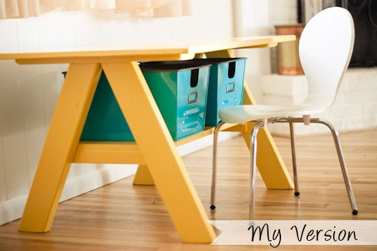 DIY Activity Table For Toddlers  Strawberry Chic Pottery Barn Kids Table DIY