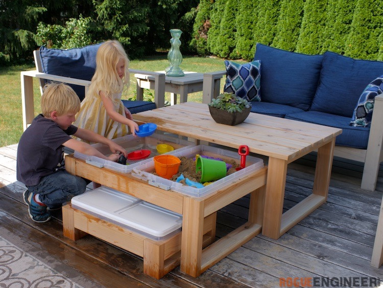 DIY Activity Table For Toddlers  Outdoor Nesting Activity Table Rogue Engineer