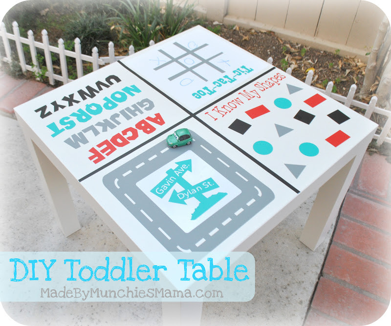 DIY Activity Table For Toddlers  DIY Toddler Game Table The 36th AVENUE