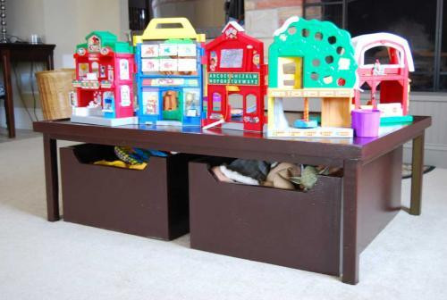 DIY Activity Table For Toddlers  DIY Home Sweet Home DIY Tutorials to Organize Toys