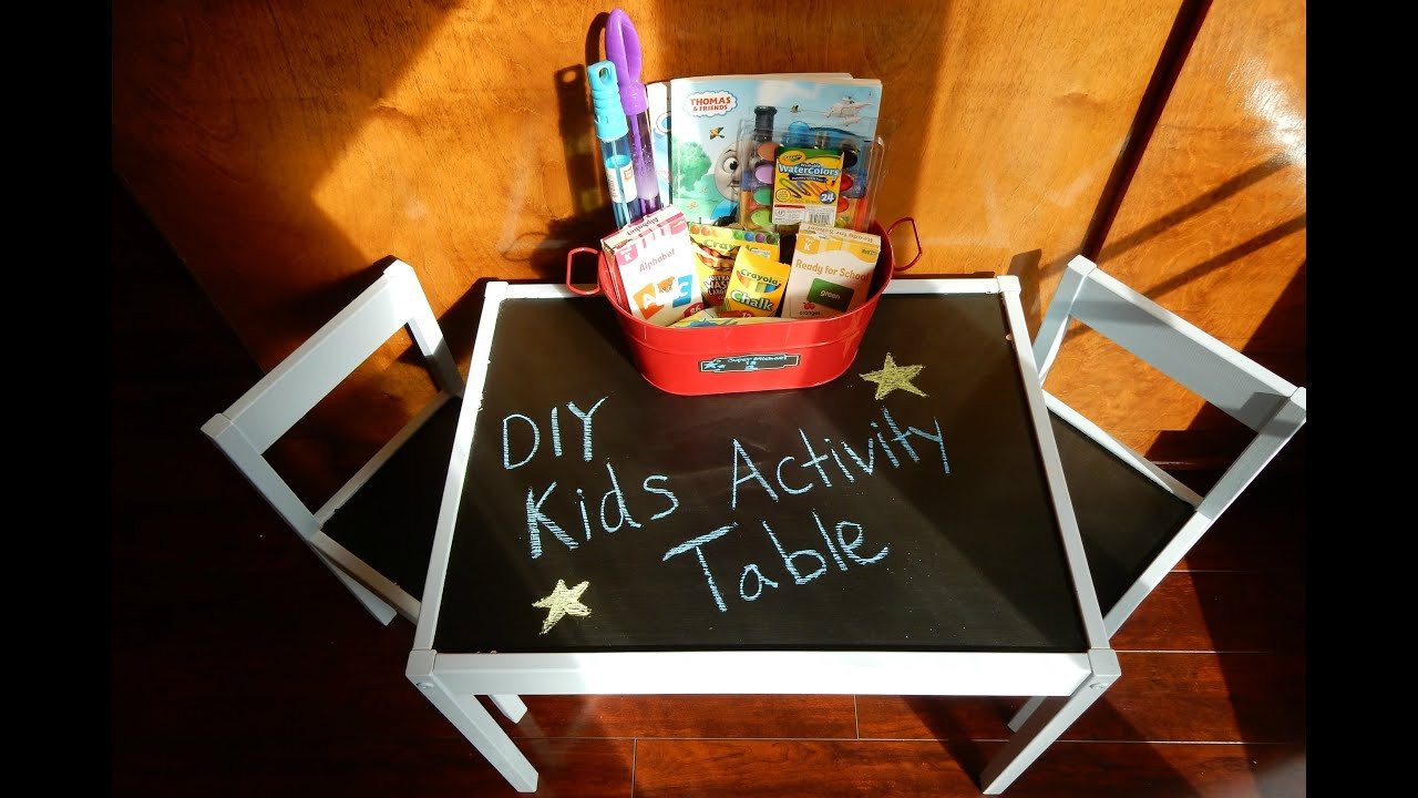 DIY Activity Table For Toddlers  DIY Kids Activity Table