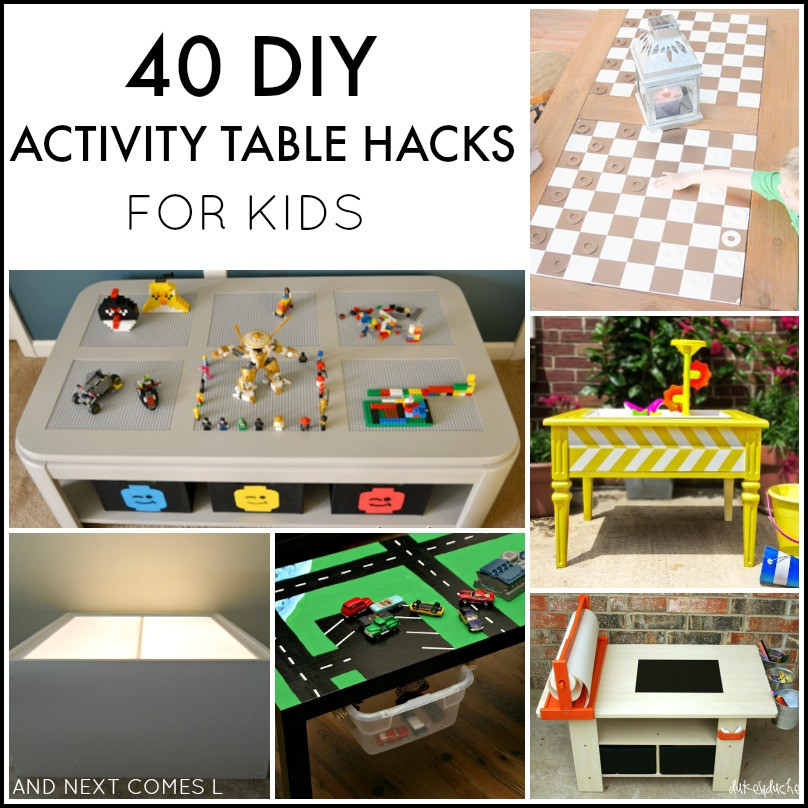 DIY Activity Table For Toddlers  40 DIY Activity Table Hacks for Kids