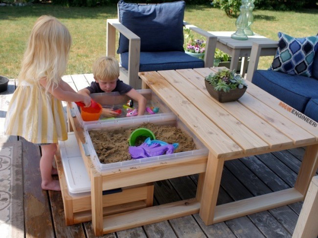 DIY Activity Table For Toddlers  Perfect Outdoor Activity Table for Kids and Adults