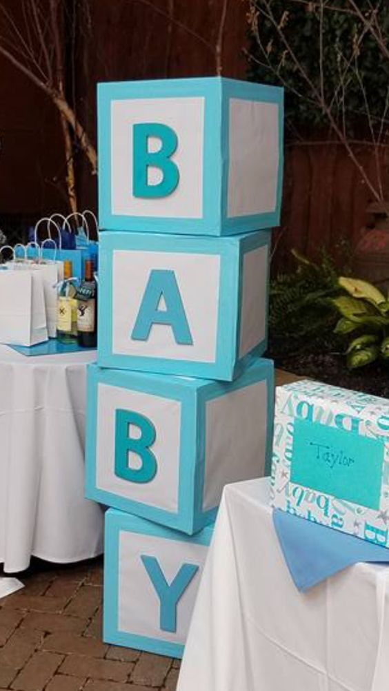 DIY Baby Blocks For Shower  DIY Baby Shower Centerpieces for Boys Baby Blocks
