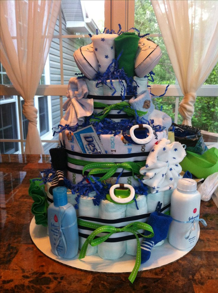 Diy Baby Boy Shower Gift Ideas  Southern Blue Celebrations Diaper Cakes for BOYS