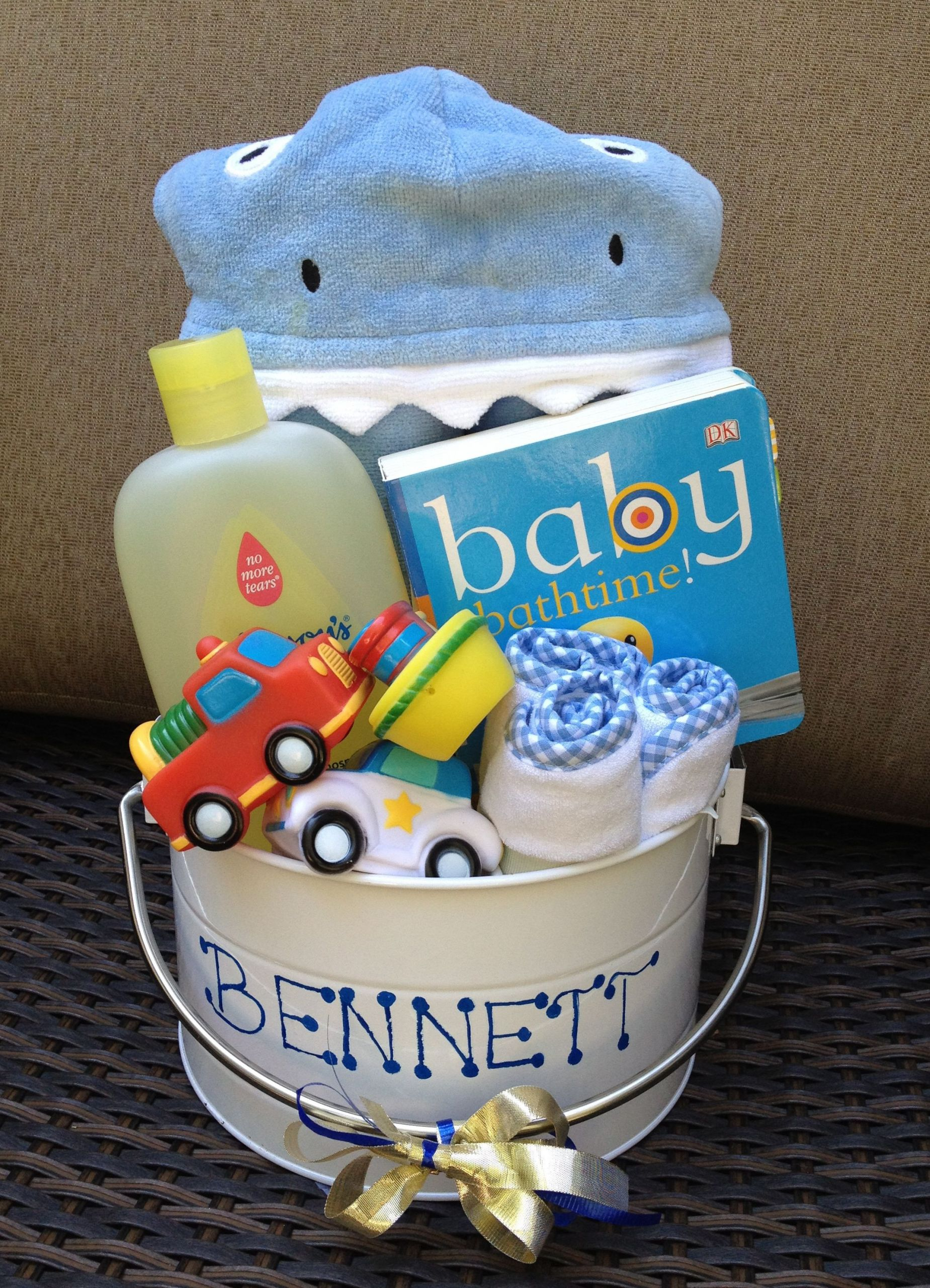 Diy Baby Boy Shower Gift Ideas  Baby Bath Bucket Perfect for baby shower ts for boy or
