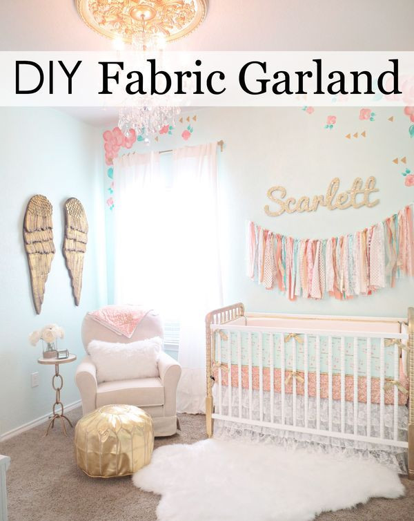 Diy Baby Nursery Decor  This is the Easiest DIY Fabric Garland Ever