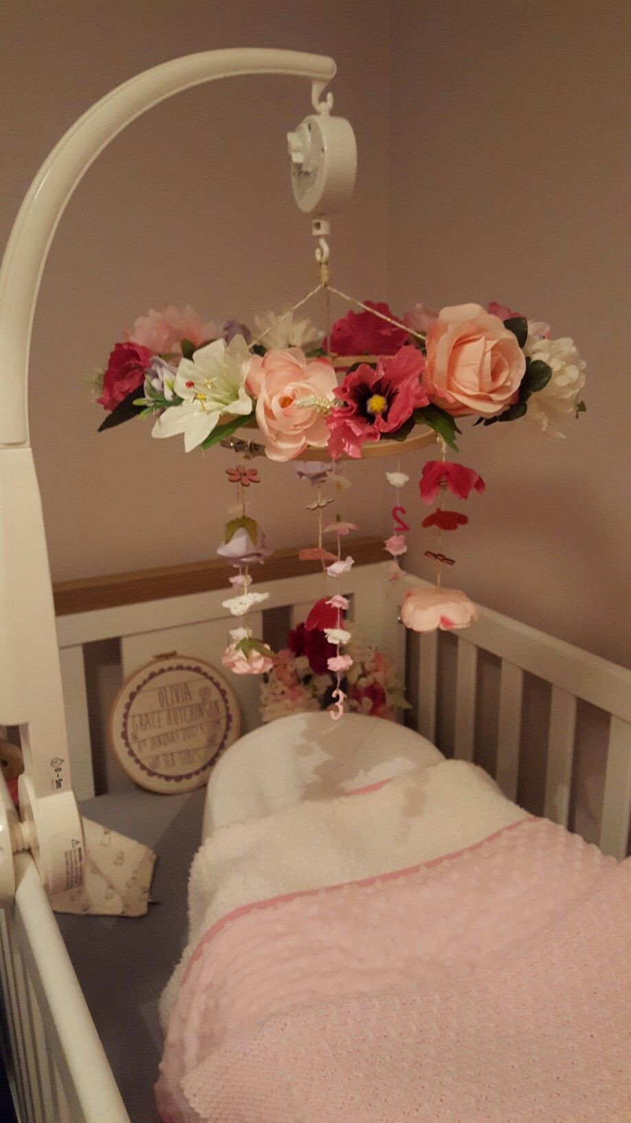 Diy Baby Nursery Decor  DIY Woodland Nursery Mobile for baby girls room
