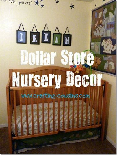 Diy Baby Nursery Decor  Dollar Store Nursery Decor