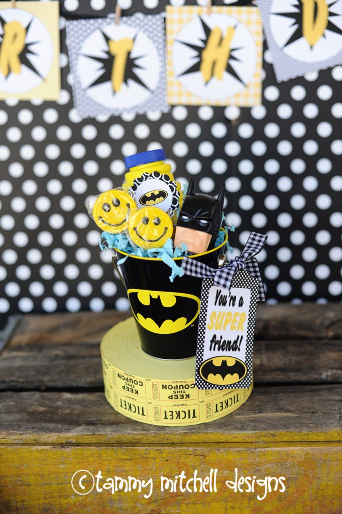 DIY Batman Decorations  Let's Party THe Holy Smokes Batman Party and Printable