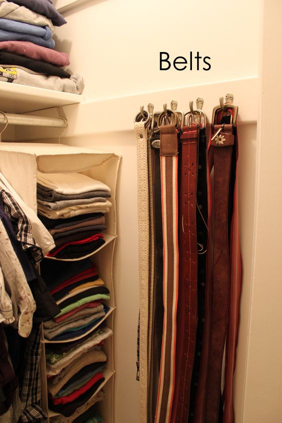 DIY Belt Organizer  How To Neatly Store And Organize Your Scarves And Belts