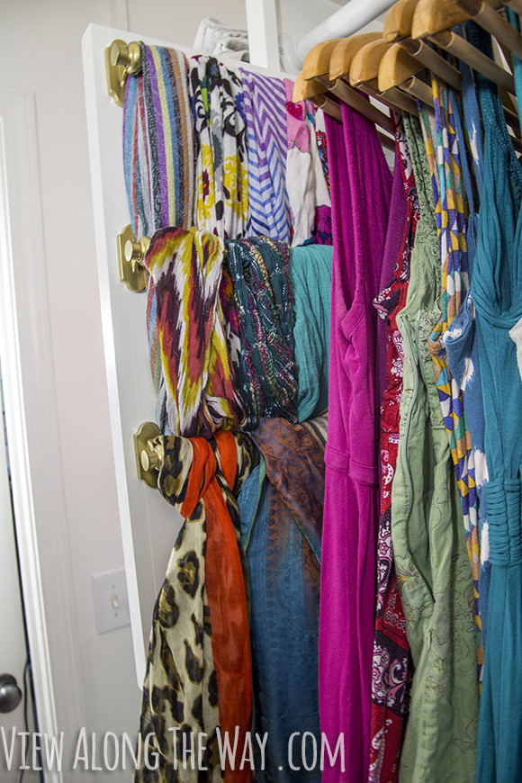 DIY Belt Organizer  DIY slide out scarf and belt organizers View Along the