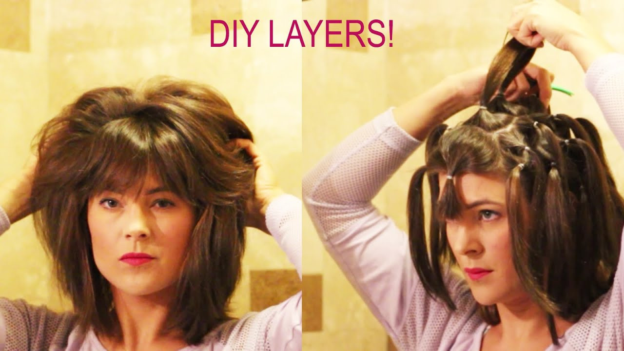 DIY Cut Your Own Hair  How to cut your own layers DIY 90 Degree Haircut Method