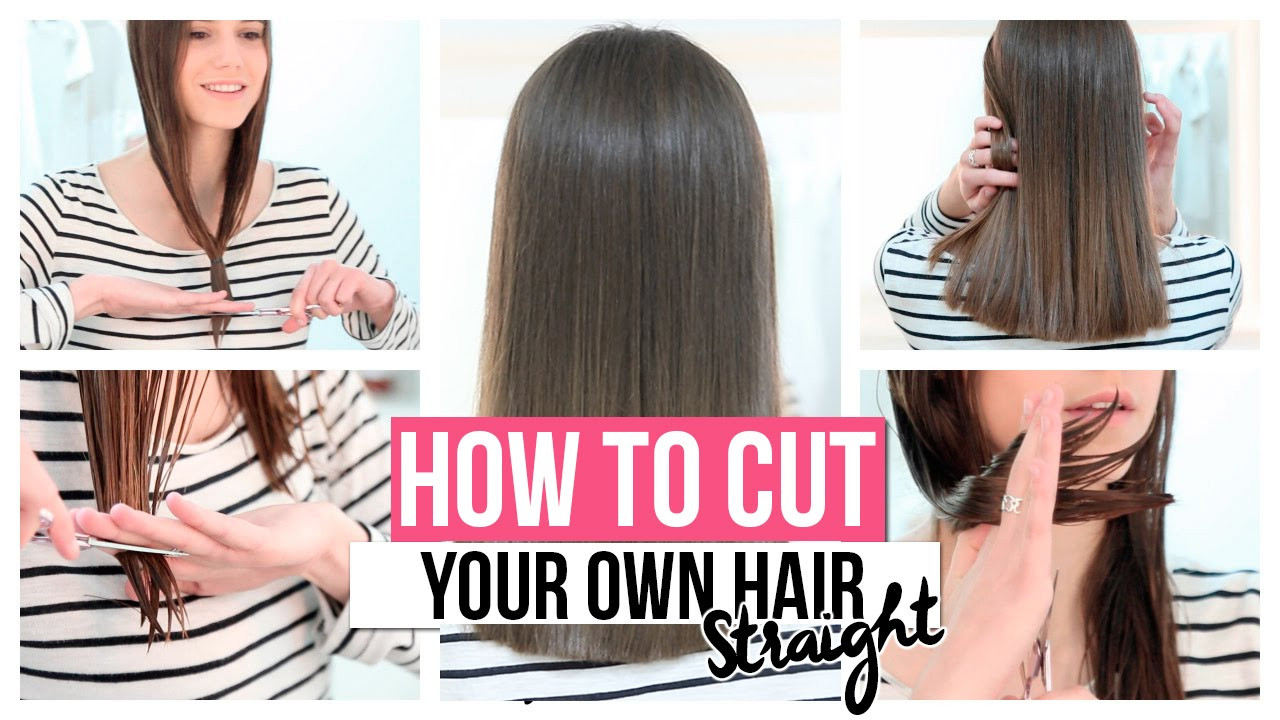 DIY Cut Your Own Hair  HOW TO CUT YOUR OWN HAIR STRAIGHT