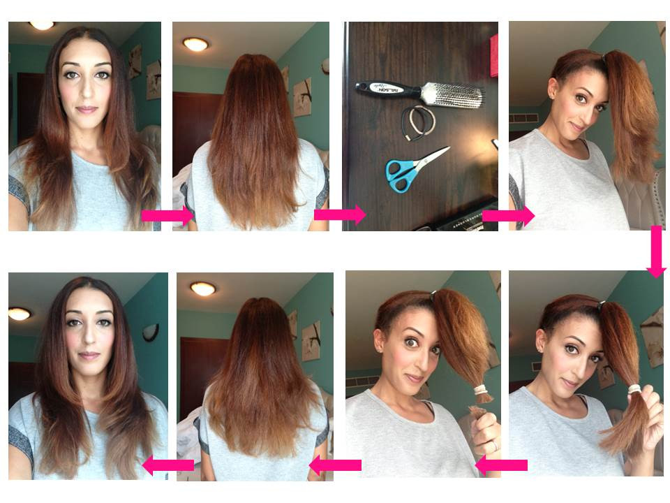 DIY Cut Your Own Hair  My first ever D I Y layered haircut