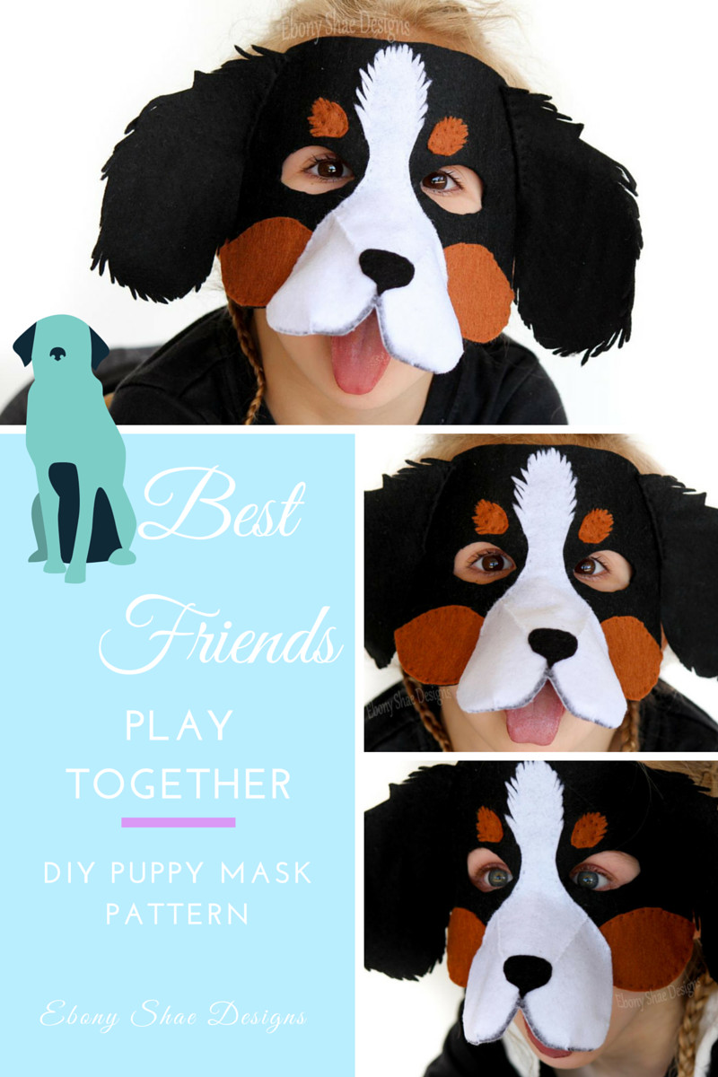 DIY Dog Costumes For Kids  The cutest puppy mask pattern for Halloween or a kids